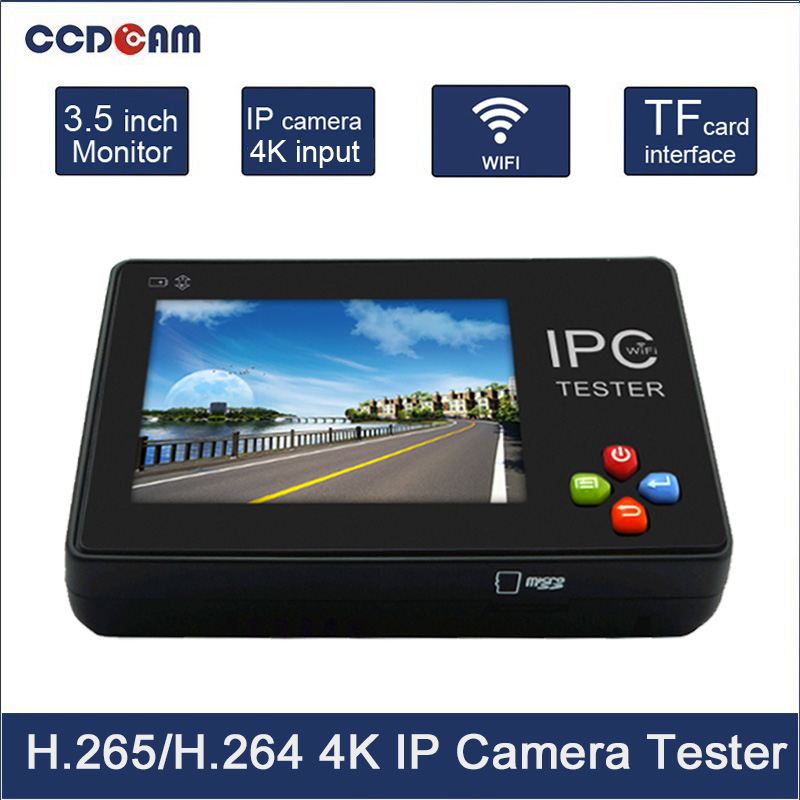 CCDCAM 3.5inch Touch Screen IP Camera /Analog Camera CCTV Tester With Video Record, WIFI 12V 1A Output 8GB SD cards frees shiping new product pro security 2 in 1 cvbs ipc cctv tester 7inch ipc touch screen camera video ptz tester