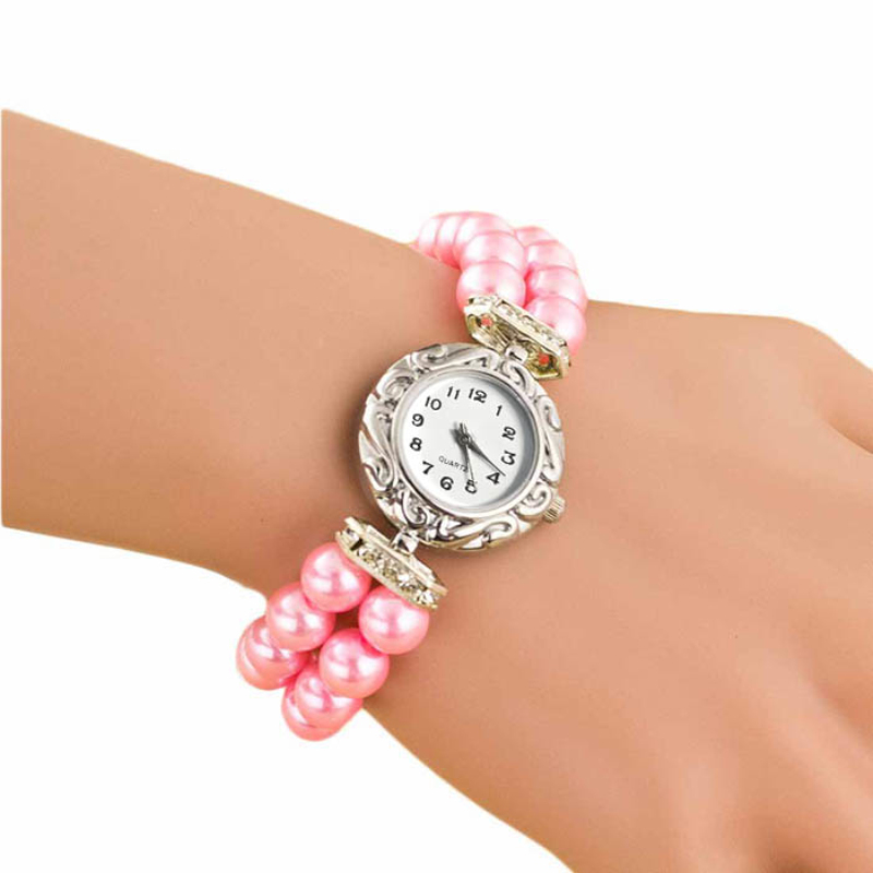 Women Watches relojes mujer Design Luxury Brand Women Bracelet Watch Pearl Strap Jewelry Wristwatch Female 2018 relogio feminino meibo brand fashion women hollow flower wristwatch luxury leather strap quartz watch relogio feminino drop shipping gift 2012