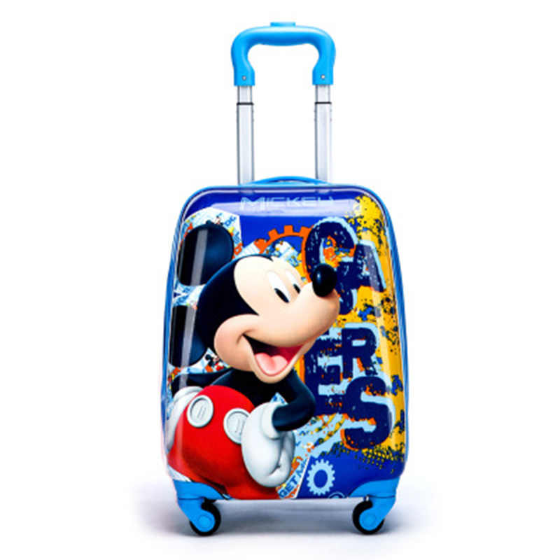 The New 2019 Cartoon Kid's Travel Trolley Bags Suitcase for Kids Children Luggage Suitcase Rolling Case Travel Bag on Wheels