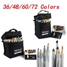 FineColour Doppel Einzelkopfster Marker 36/48/60/72 farben Marke Stift Animation Design Farbe Skizze marker für Zeichnung