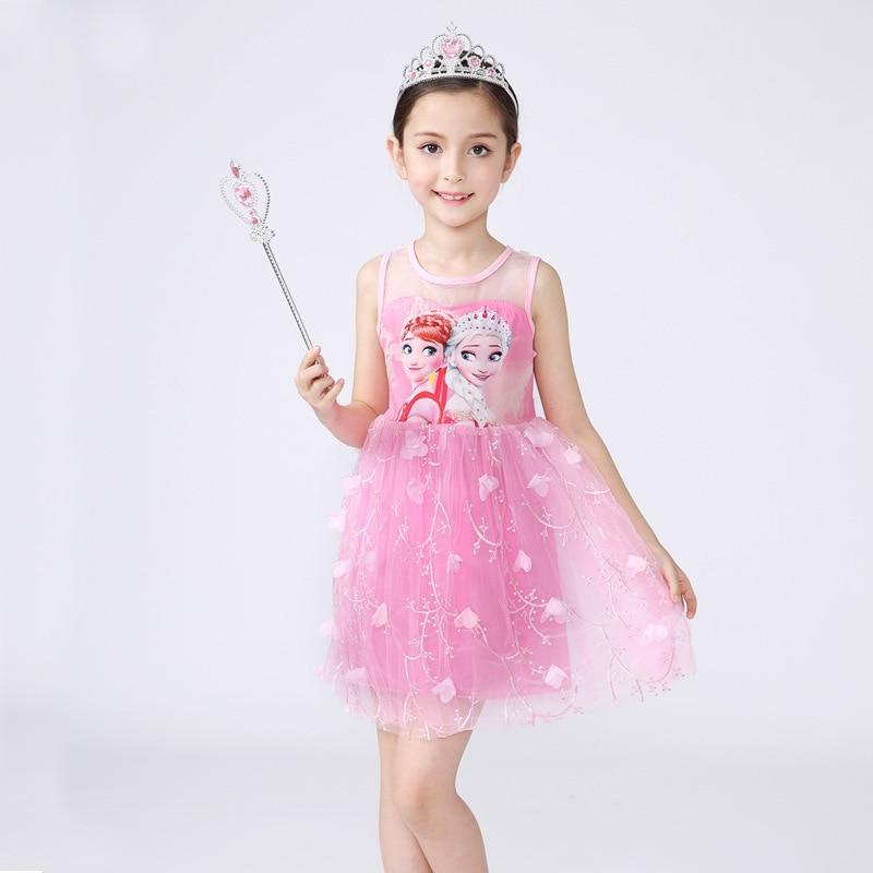 Multicolor de Alta Calidad Sofia Princess Cosplay Elza Anna Vestido ...