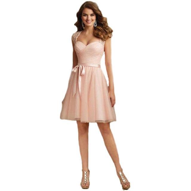 Aliexpress Buy Summer Junior Bridesmaid Dresses Sexy V Neck