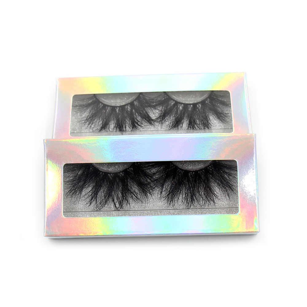 673b06062d1 ... LEHUAMAO 25mm Eyelashes 5D Mink False Eyelashes Crisscross Strands  Cruelty Free High Volume Mink Lashes Soft