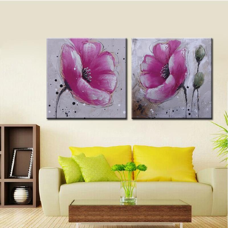 bloemen canvas schilderij-koop goedkope bloemen canvas schilderij, Deco ideeën