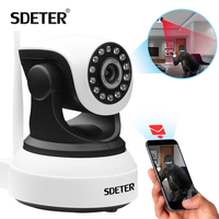 SDETER אלחוטי WIFI מצלמת ip אבטחת בית מעקבים 720 P ראיית לילה טלוויזיה במעגל סגור IP Onvif P2P לפקח על תינוק אינטרנט פנימית