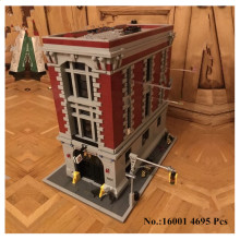 H HXY IN STOCK Free shipping 16001 4695Pcs Ghostbusters Firehouse Headquarters Model Building Kits Model set