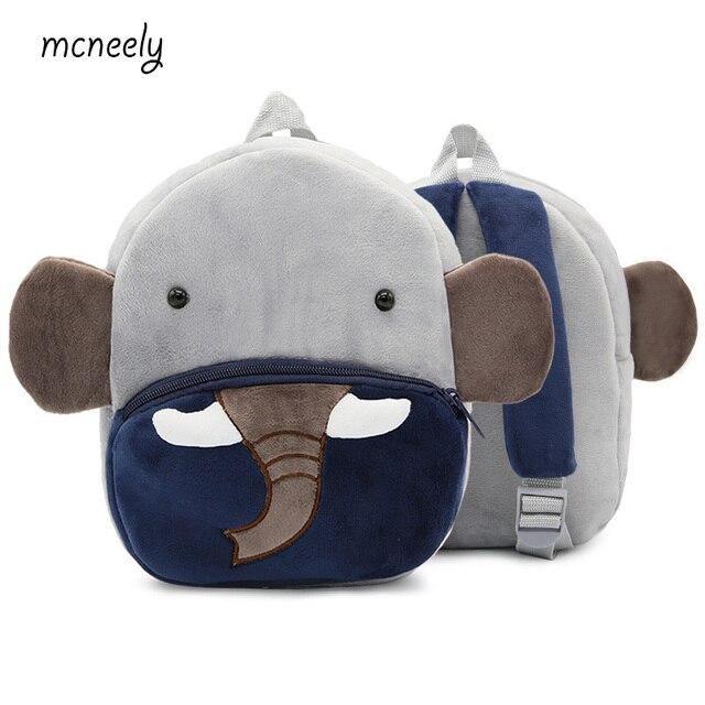 e366a43358cc 2018 Kindergarten Kids Elephant Backpacks Baby Girls Boys Cute Schoolbag  Plush Backpack Children Cartoon Toys Gifts School Bags