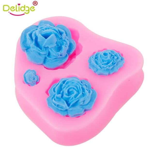 Aliexpress Buy Delidge 1pcs 3d Rose Flowers Shape Cake Mold 4
