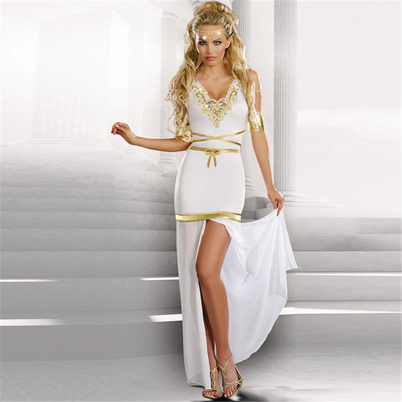 Maxi Ancient Greek Style Dress With Deep Neckline And: Popular Greek Goddess-Buy Cheap Greek Goddess Lots From