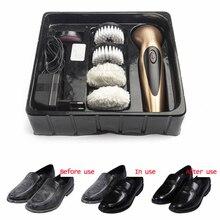 Ручная портативная заряжаемая полировальная машина для обуви мини Удобная Механическая Чистка обуви устройство полезный инструмент для обуви