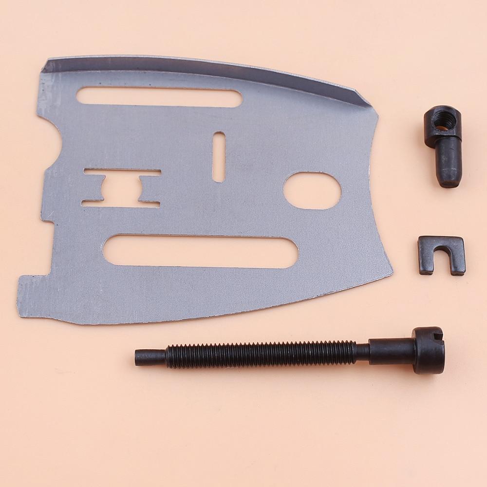 Guia Placa Bar Chain Tensioner Ajustador Parafuso Kit Para Motosserra JONSERED 625 630 670 2077 2083