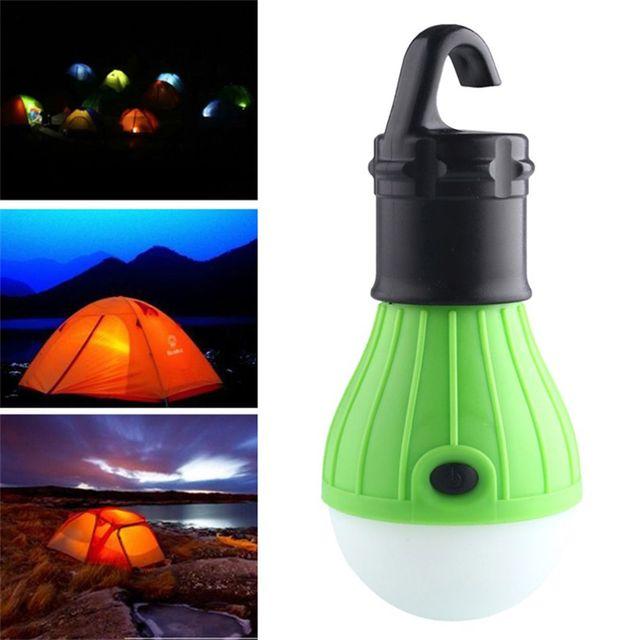 1pc Outdoor Portable Hanging Camping Lamp Tent Light Bulb Fishing Lantern Lighting