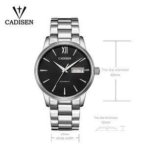 1032 Мужские автоматические механические часы CADISEN, модные часы для ролевых игр, роскошные брендовые водонепроницаемые часы, мужские часы