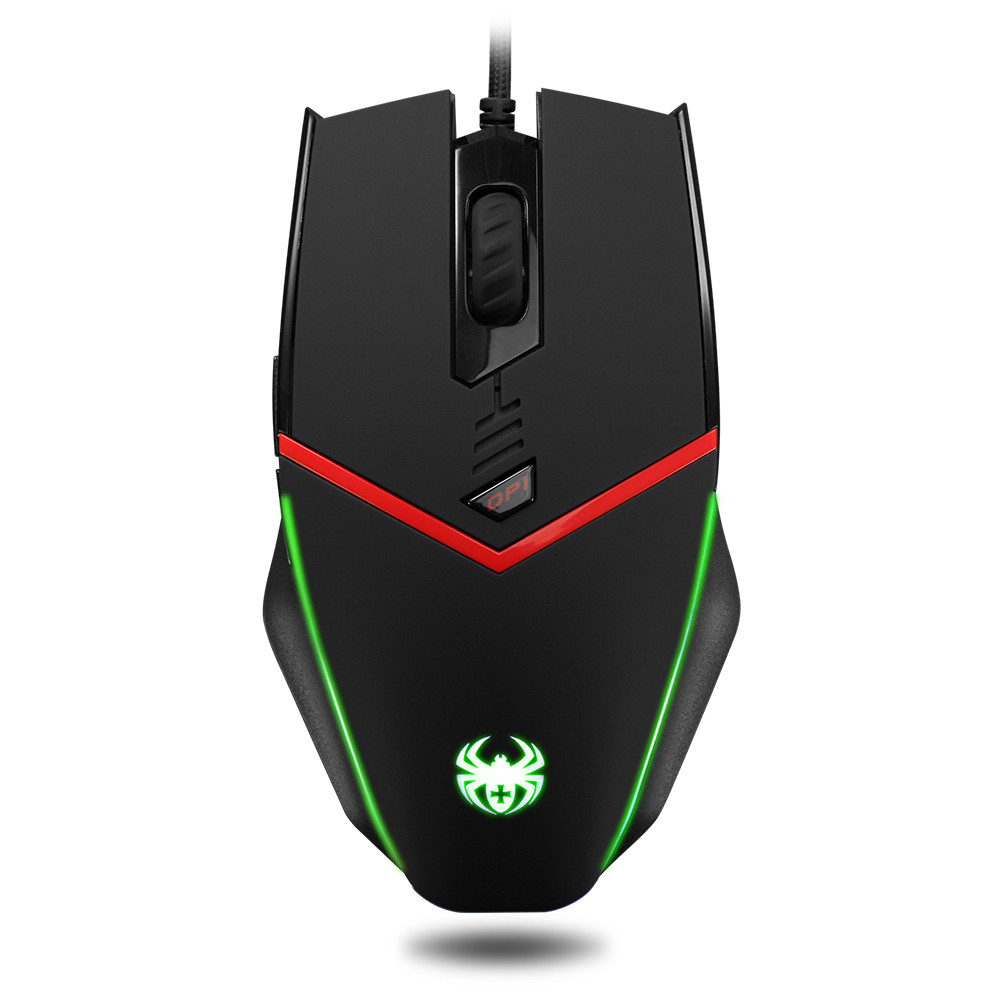 ZELOTES C-13 Wired Gaming Mouse Optical USB 3200 DPI LED Light Computer Apr30