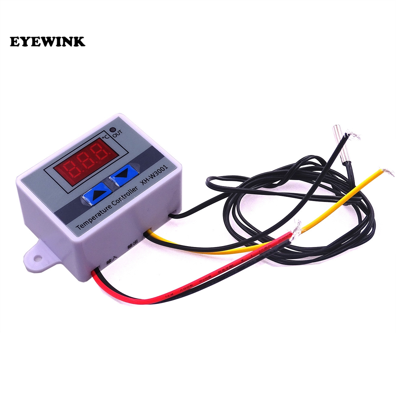 20pcs 220V XH W3001 W3001 Temperature Controller Digital LED Temperature Controller Thermometer Thermo Controller Switch Probe