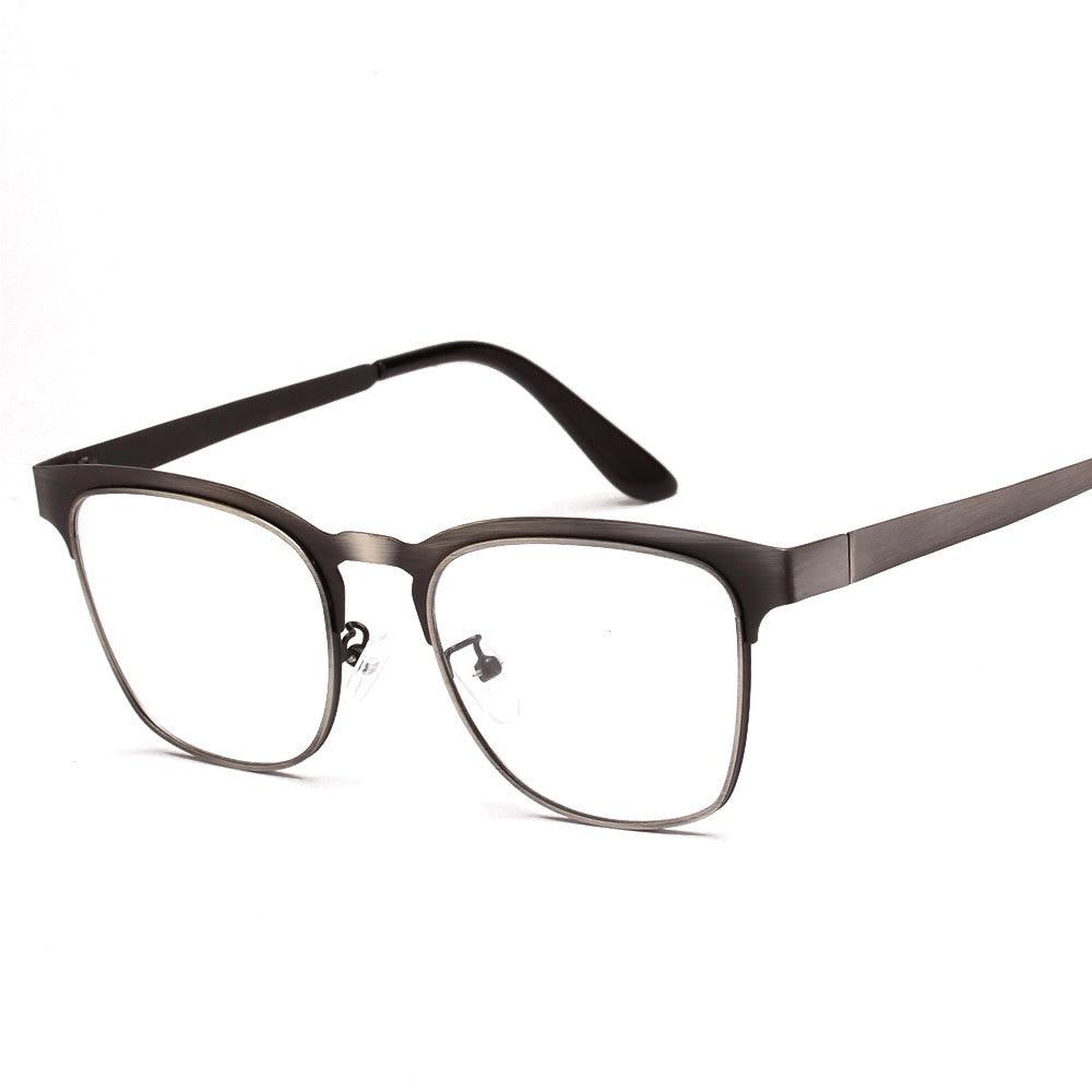 high quality hipster stainless steel metal frame myopia square nerd glasses women vintage eyeglasses men lentes