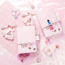 Kawaii Grid A6 B6 Notebook Agenda Planner Schedule Journals Sketchbook Dairy Personal Handbook Birthday Gift Stationery