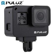 PULUZ עבור GoPro חדש גיבור/HERO7 שחור/6/5 דיור פגז מקרה CNC אלומיניום סגסוגת מגן כלוב & ביטוח מסגרת