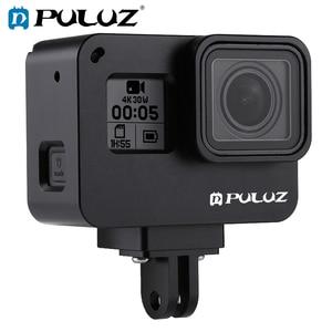 Image 1 - PULUZ для GoPro NEW HERO/HERO7 Black/6/5 корпус с ЧПУ Алюминиевый сплав Защитная клетка и страховая рамка
