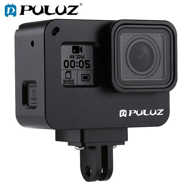 PULUZ для GoPro NEW HERO/HERO7 Black/6/5 корпус с ЧПУ Алюминиевый сплав Защитная клетка и страховая рамка