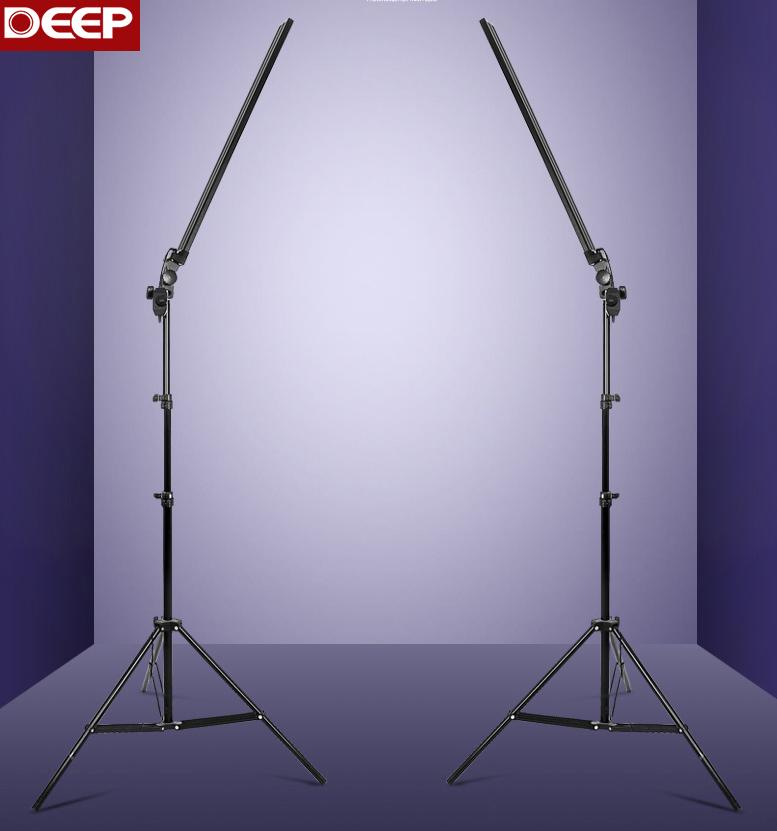 Prix pour Nouvelle Longue Led lumière photographie la lumière ensemble lampe d'éclairage équipement Diamer Commutateur 2 pcs LED 2 pcs Stand