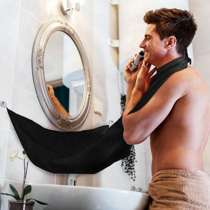 Bart Pflege Rasur Schürze Bib Trimmer Reinigen Gesichts Haar Cape Waschbecken Bad Regale Wasserdicht Floral Tuch