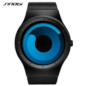 Image 3 - SINOBI ยี่ห้อ Creative กีฬานาฬิกาควอตซ์ผู้ชายสแตนเลสสตีลเวลานาฬิกาหมุนนาฬิกา Relogio Masculino