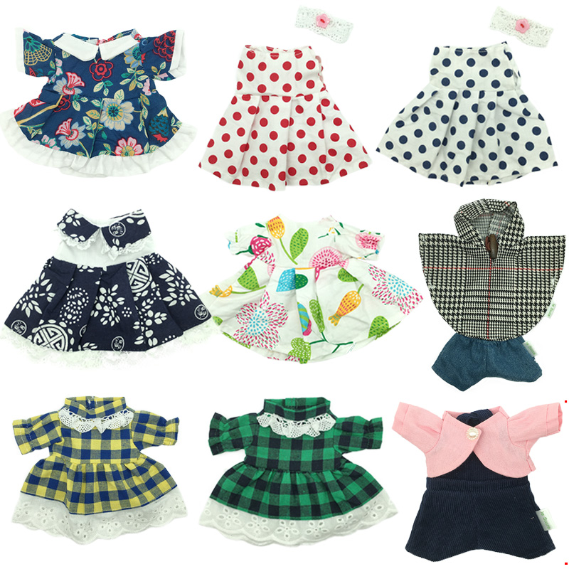 1pc Doll Clothes For 30cm Bunny Rabbit Plush Toys Floral Skirt Sweater Cloak Suit Accessories For 1/6 BJD Dolls Gifts For Girls