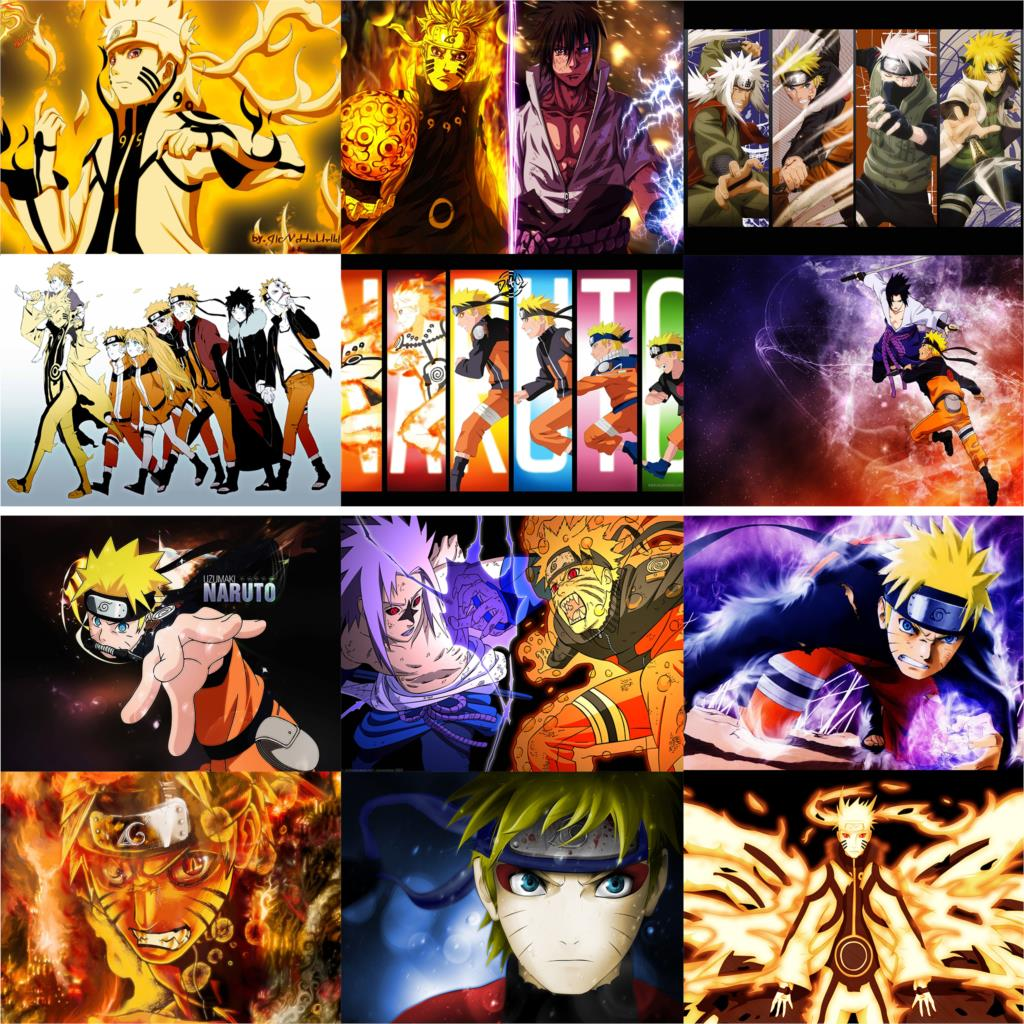 naruto  posters wall stickers vivid color home decoration glossy paper prints free shipping wholesale drop sale