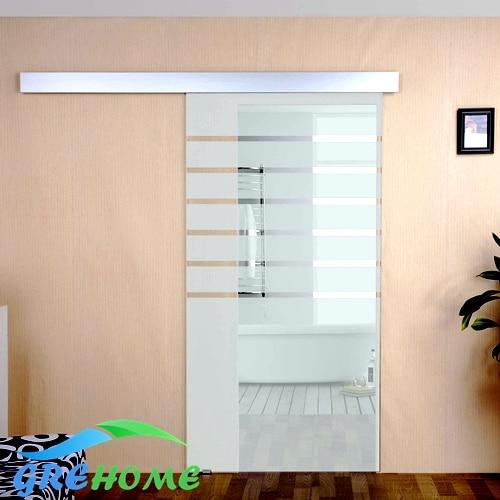 Aluminium alloy glass barn sliding door hardware aluminium alloy frameless barn sliding glass door system
