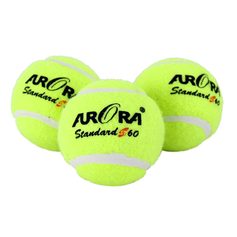 3PC High Elasticity Tennis Synthetic Wool Fiber Rubber Outdoor Sports Standard Size Entry Level Primary Training 6.3cm