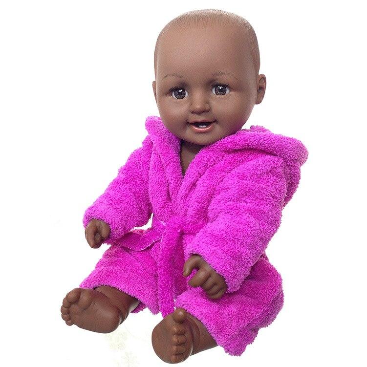 Bébé poupée noire 50cm pleine silicone vinyle reborn bonecas afro-américain garçon pour enfants cadeau d'anniversaire bebes reborn