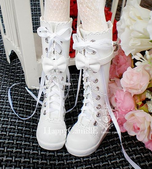 1/3 1/4 Bjd boots bjd shoes beaded bow laciness boots 1 3 bjd cute boots bjd boots sd dod luts bjd dz shoes sh05