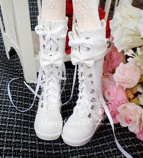 1/3 1/4 Bjd boots bjd shoes beaded bow laciness boots
