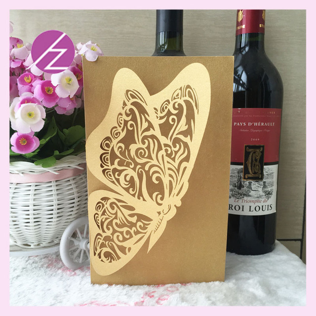 Handmade Paper Crafts Laser Cut Invitation Cards Models Colorful