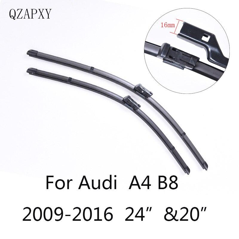 """Balais D'essuie-glace pour Audi A4 B8 24 """"et 20"""" 2009 2010 2011 2012 2013 2014-2016 Voiture Accessoires En Caoutchouc Souple Balais D'essuie-Glace de Voiture"""
