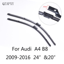 "Wiper Blades for Audi A4 B8 24""&20""2009 2010 2011 2012 2013 2014 2016 Car Accessories  Soft  Rubber Car Windshield Wiper blades"