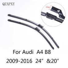 Стеклоочистителей для Audi A4 B8 24 «и 20» 2009 2010 2011 2012 2013 2014-2016 автомобиль интимные аксессуары из мягкой резины стеклоочистителей лобового стекла автомобиля