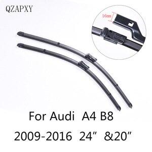 "Image 1 - Wiper Blades for Audi A4 B8 24""&20""2009 2010 2011 2012 2013 2014 2016 Car Accessories  Soft  Rubber Car Windshield Wiper blades"