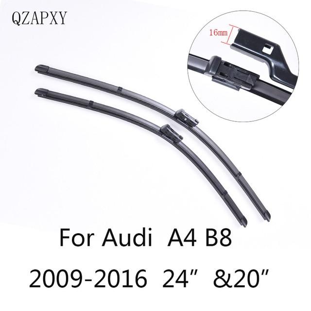 """Wiper Blades for Audi A4 B8 24""""&20""""2009 2010 2011 2012 2013 2014 2016 Car Accessories  Soft  Rubber Car Windshield Wiper blades"""
