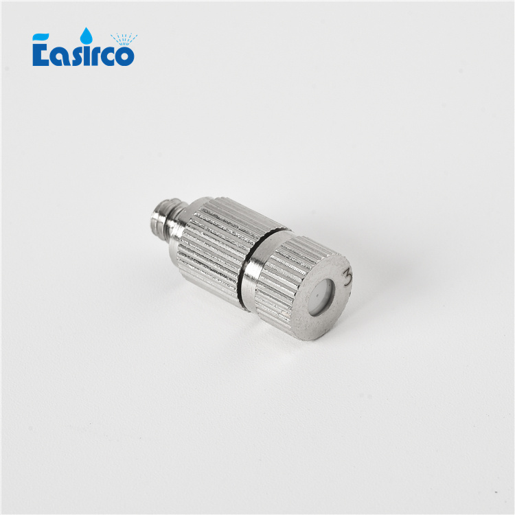 50pcs pack 20 80bar Brass with nickle plated Fog Mist Ceramic Nozzle for high presure