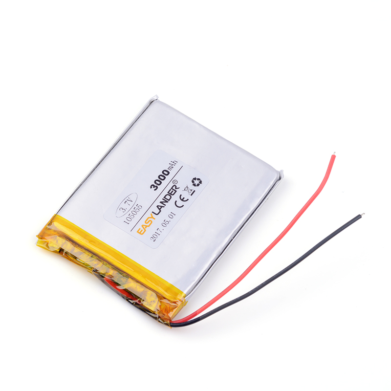 105055 <font><b>3000mAh</b></font> <font><b>3.7</b></font> <font><b>v</b></font> battery for GPS vehicle traveling data recorder soft polymer battery pack power bank DIY Tablet pc Ebook image
