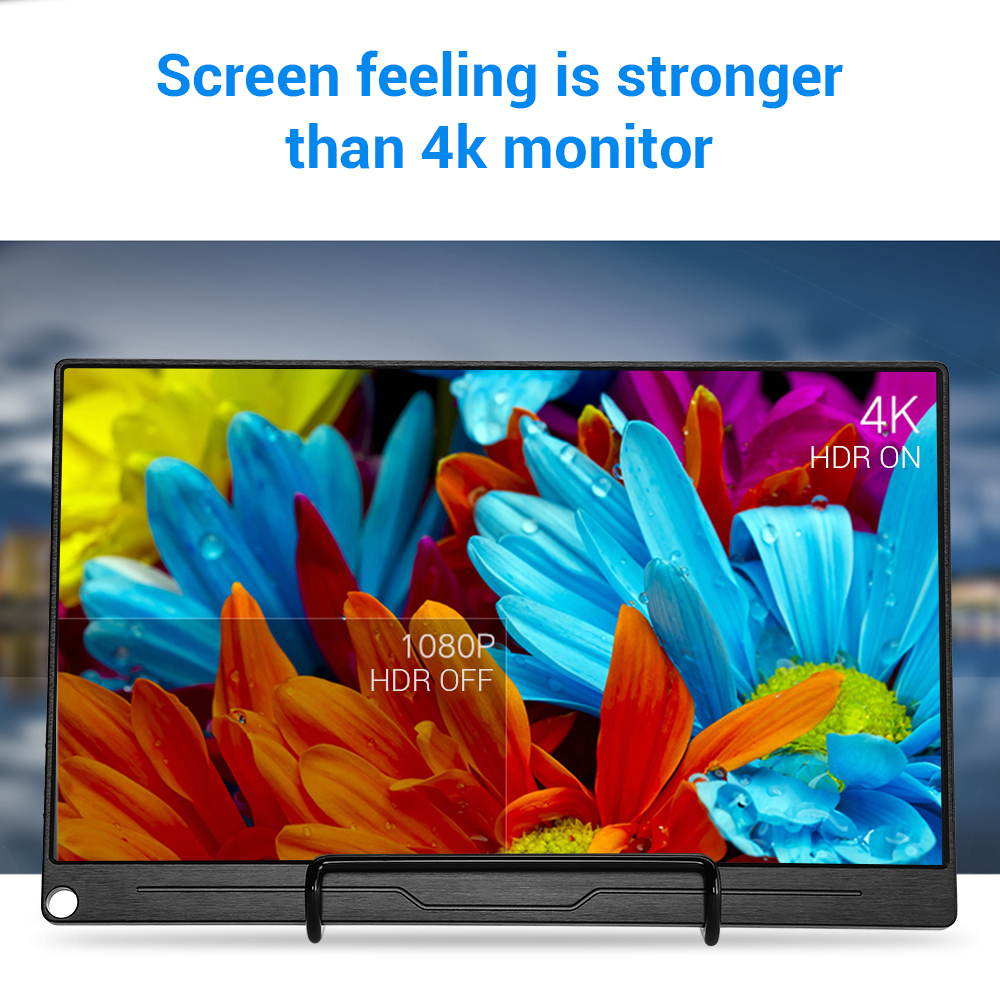 """Image 2 - Eyoyo 13.3"""" FHD 3840 x 2160 4K IPS Gaming Monitor compatible for Game Consoles PS3 PS4 WiiU Switch Raspberry Mini PC ComputerLCD Monitors   -"""