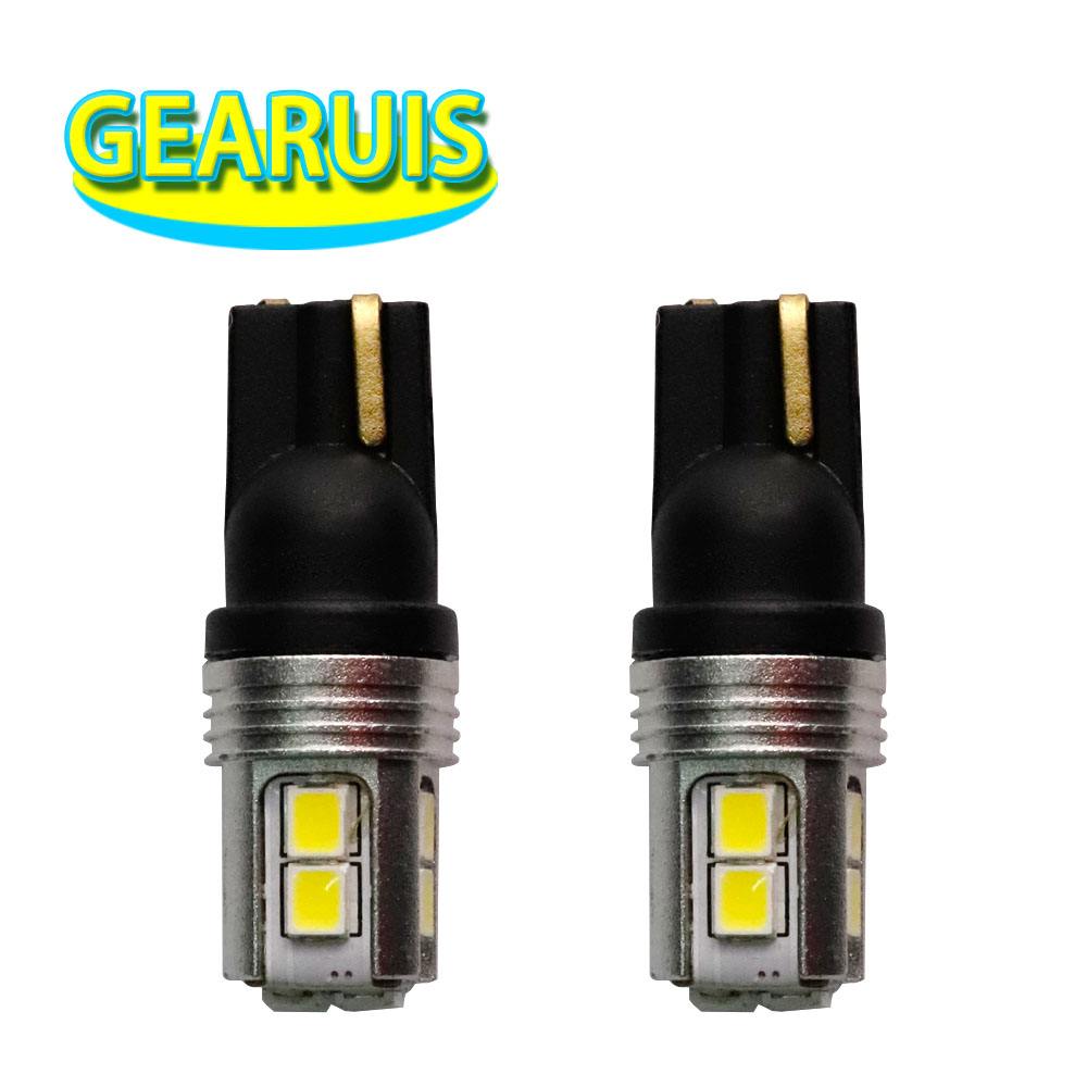 100pcs T10 W5W 10 SMD 2835 LED W5W non polarity 60MA Wedge Light bulbs Clearance Lights