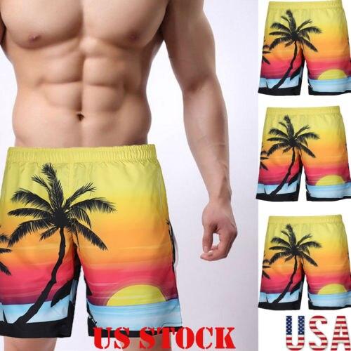 Hot Men's Summer Beach Swimwear Swim Trunks Surf Stretch   Board     Shorts   Pants