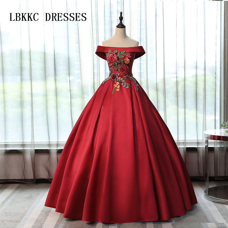 Red And Black Gown: Sleeveless Red And Black Quinceanera Dresses Satin With