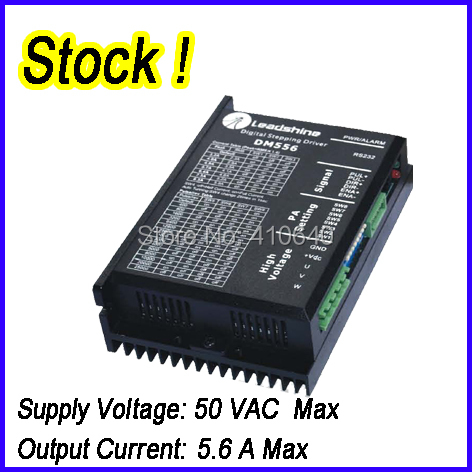 Genuine! Leadshine DM556 2 Phase 32 Bit DSP Digital Stepper Drive with Max 50 VDC Input Voltage and Max 5.6A Output Current hot sale leadshine acs606 dc input brushless servo drive with 18 to 60 vdc input voltage and 6a continuous 18a current