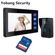 Yobang Security freeship 7Inch Touch Monitor video porteiro Door Phone IR Camera SD Card Recording Doorbell Video Intercom