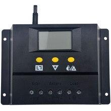 80A Regulador Solar Cargador Del Panel de Batería PWM Controller 80A 960 W/12 V/1920 W/24 V con Pantalla LCD