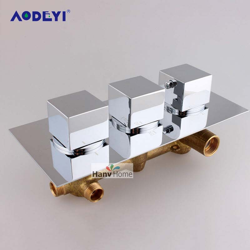Brass Thermostatic Mixing Valve Constant Water Temperature: AODEYI Brass Thermostatic Mixing Valve Adjust The Mixing